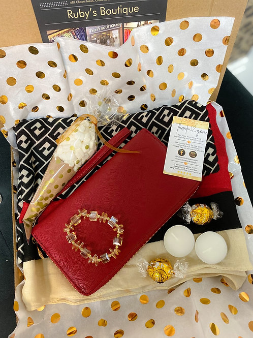 Red Purse & Scarf Gift Box