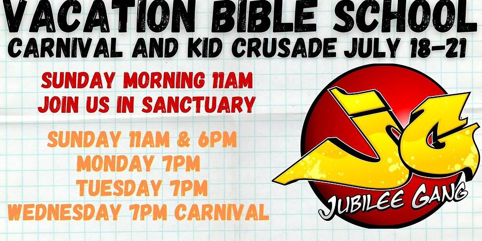 Vacation Bible School July 18-21