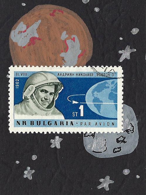 Space No. 7 (Mini Collage Art Card)