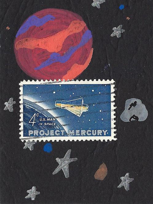 Space No. 4 (Mini Collage Art Card)