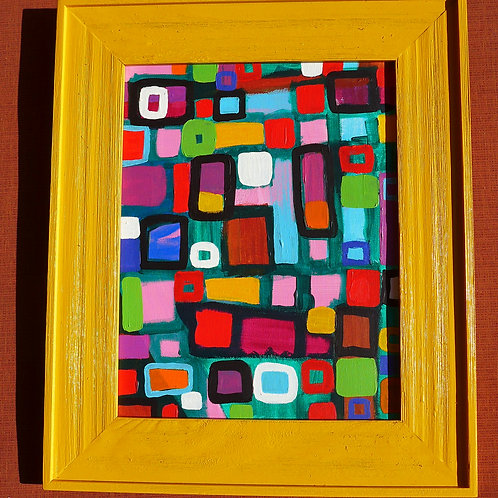 Yellowy Orange framed art