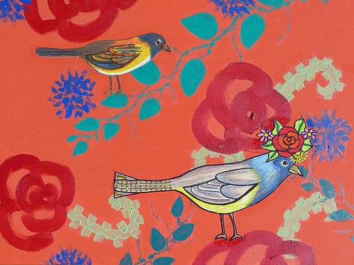 Birds: Flower Crown
