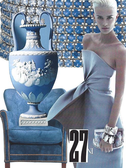 Subtle blue elegance