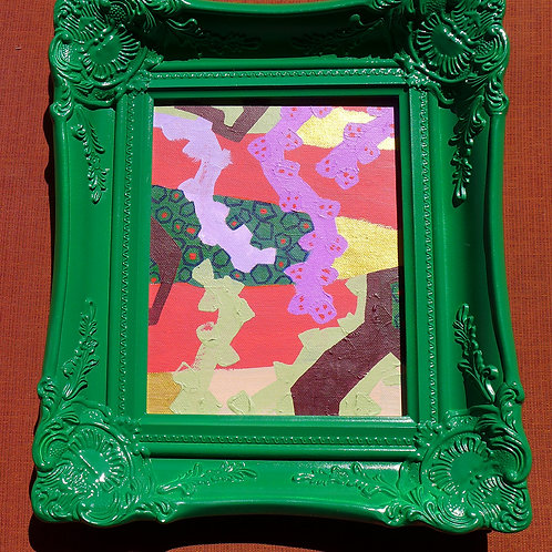 Green framed art
