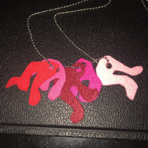Camo+ Necklaces: Red-Pink