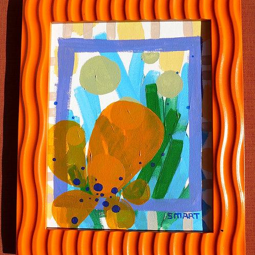 Wavy Orange framed art