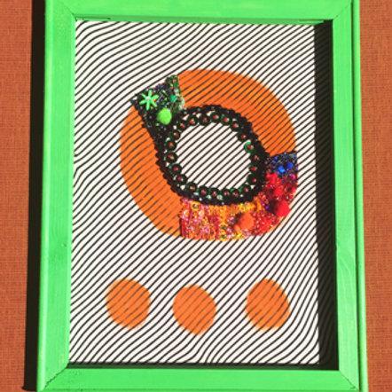 Orange Loop w/beaded detours