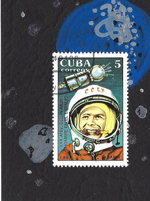 Space No. 5 (Mini Collage Art Card)