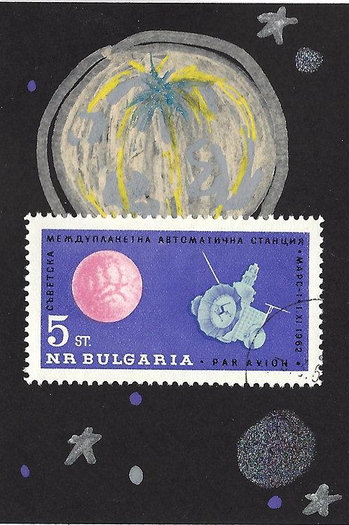 Space No. 1 (Mini Collage Art Card)