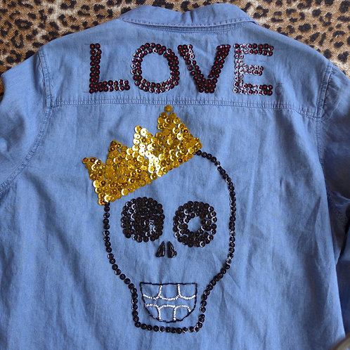 Love Skull w/Crown