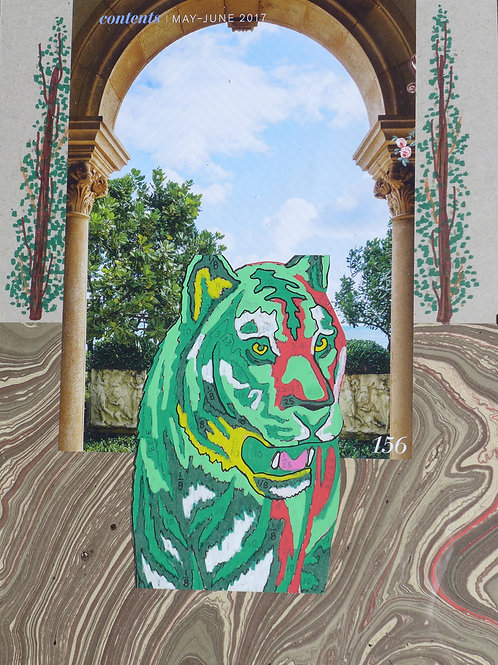 Collage: Tiger goes to Italy