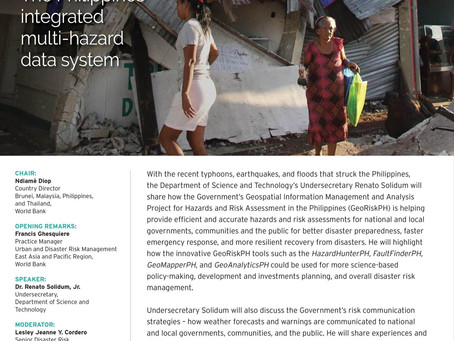 (26 NOV) Philippines BBL Building Resilience using the GeoRiskPH with DOST