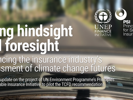World's insurers and UN Environment Programme release progress update on pioneering initiative to en
