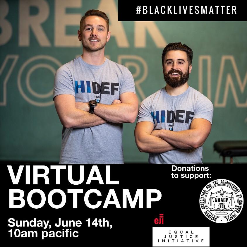 #BlackLivesMatter Virtual Charity Bootcamp