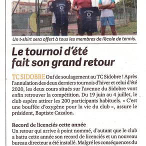 T-shirts offerts + Tournoi été