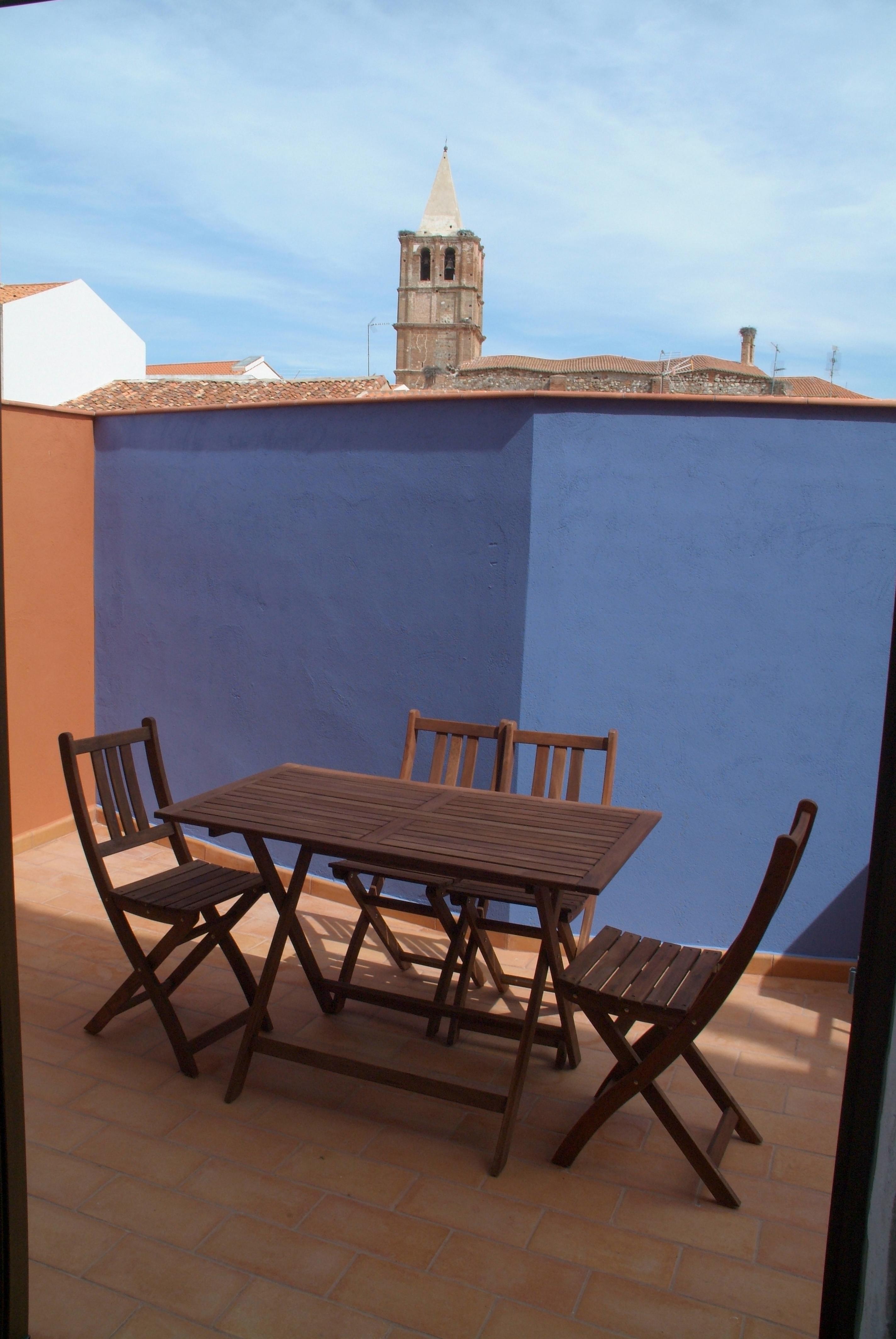 terraza junto a cocina