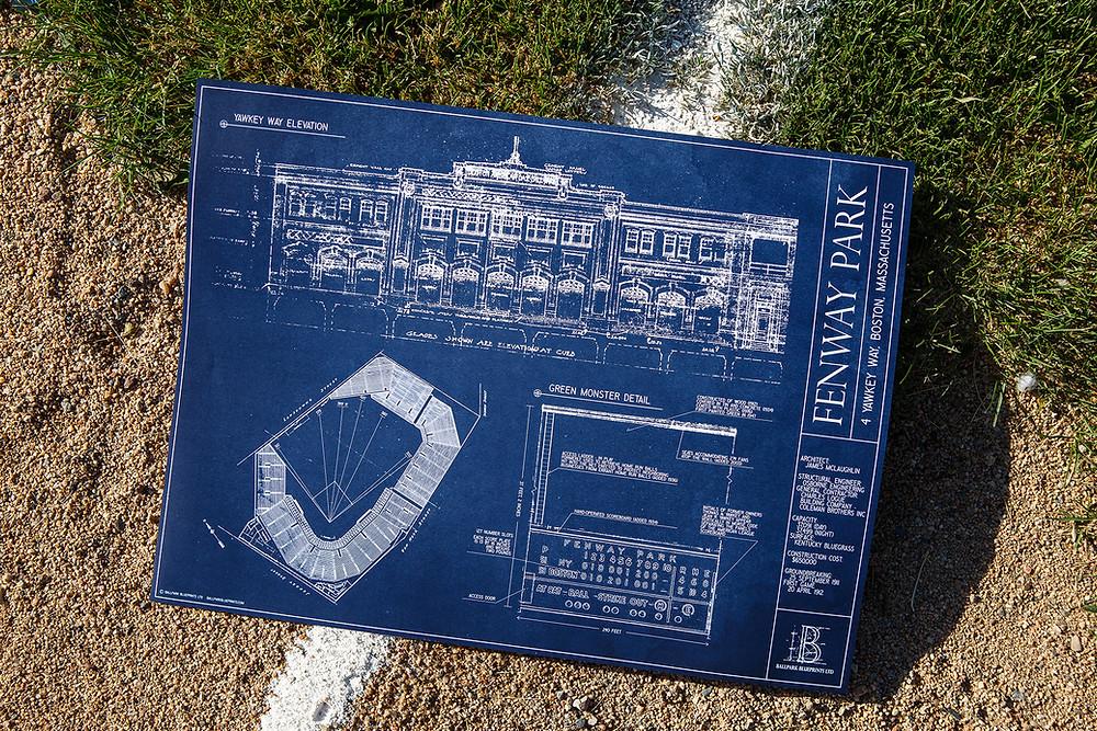 Ballpark Blueprints, Fenway Park, baseball, stadium