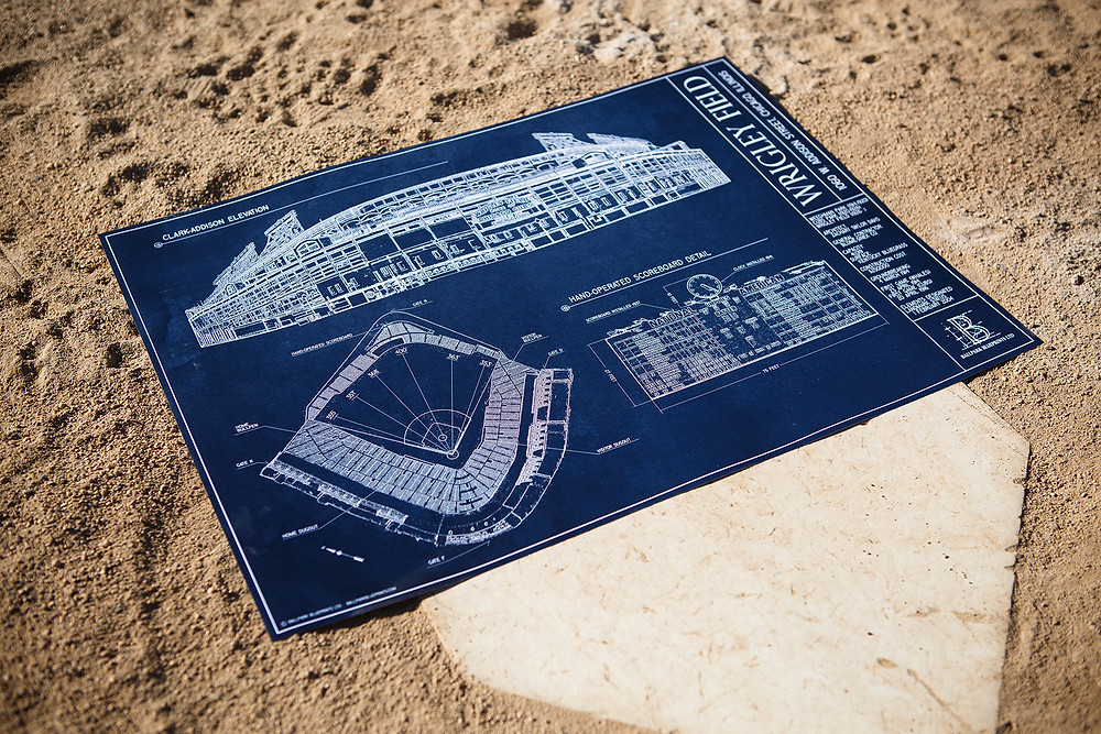 Ballpark Blueprints, Wrigley Field, Baseball, stadium