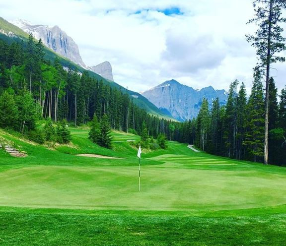 Stewart Creek, Canmore, Alberta, Canada, rocky mountains, canadian rockies, golf course, resort