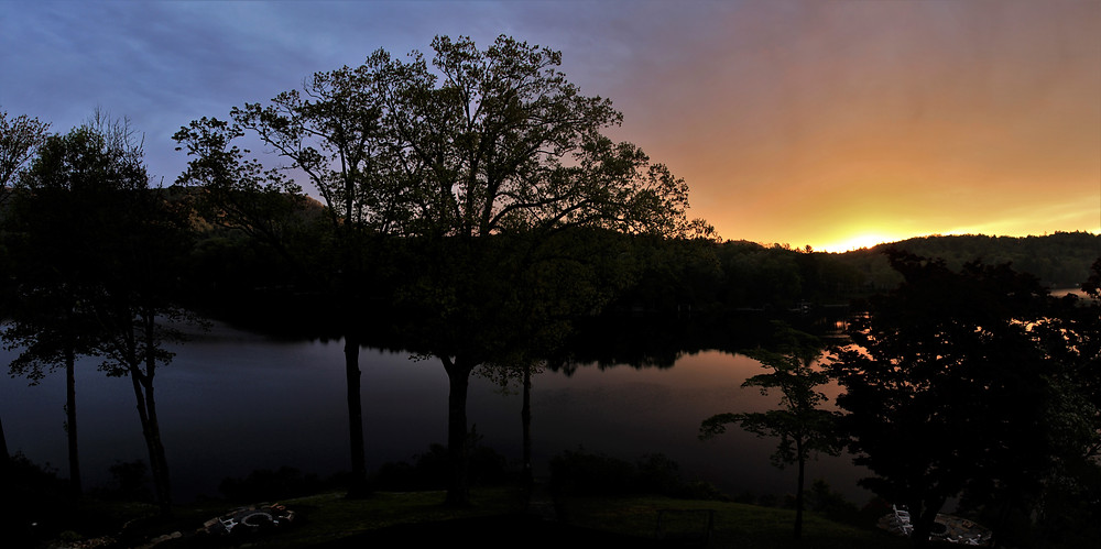 Greystone Inn, Lake Toxaway, Sunrise, Panorama, North Carolina, Smoky Mountains