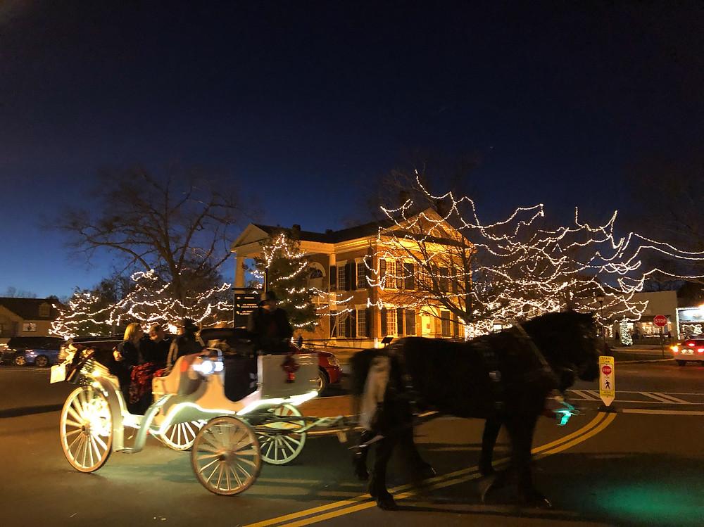 Horsedrawn carriage in Downtown Square Dahlonega, Georgia