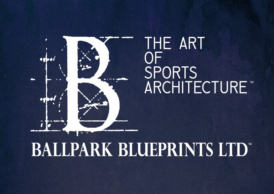Ballpark Blueprints, logo, art of sports architecture