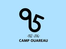 Logo du 95e anniversaire du Camp Ouareau
