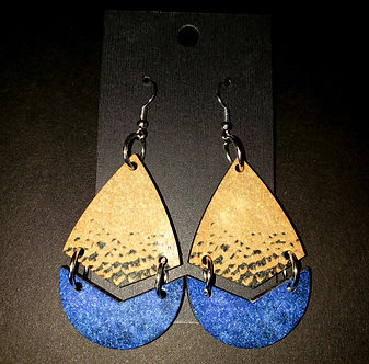 Vintage Denim Earrings