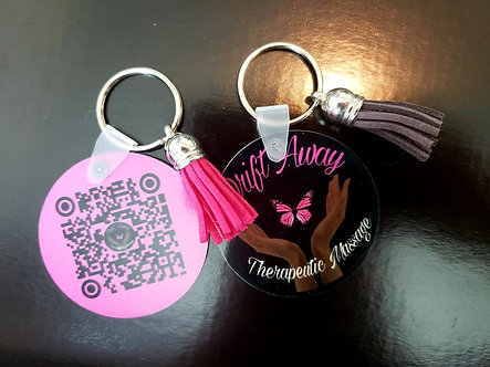 Double-sided Round Keychain