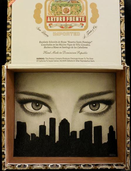 I Love Houston (in cigar box)