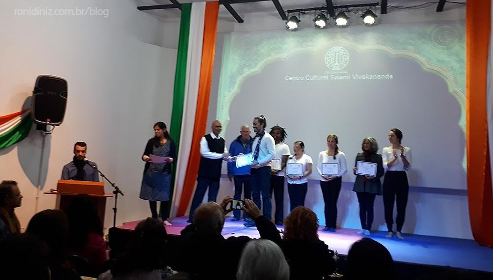 Formação em Yoga no Centro Cultural da Índia em São Paulo Swami Vivekananda 09/2019