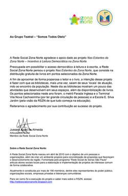 2014-10-29 Esquete #SomosTodosOtelo no Evento Nas Estantes da Zona Norte_ (2)