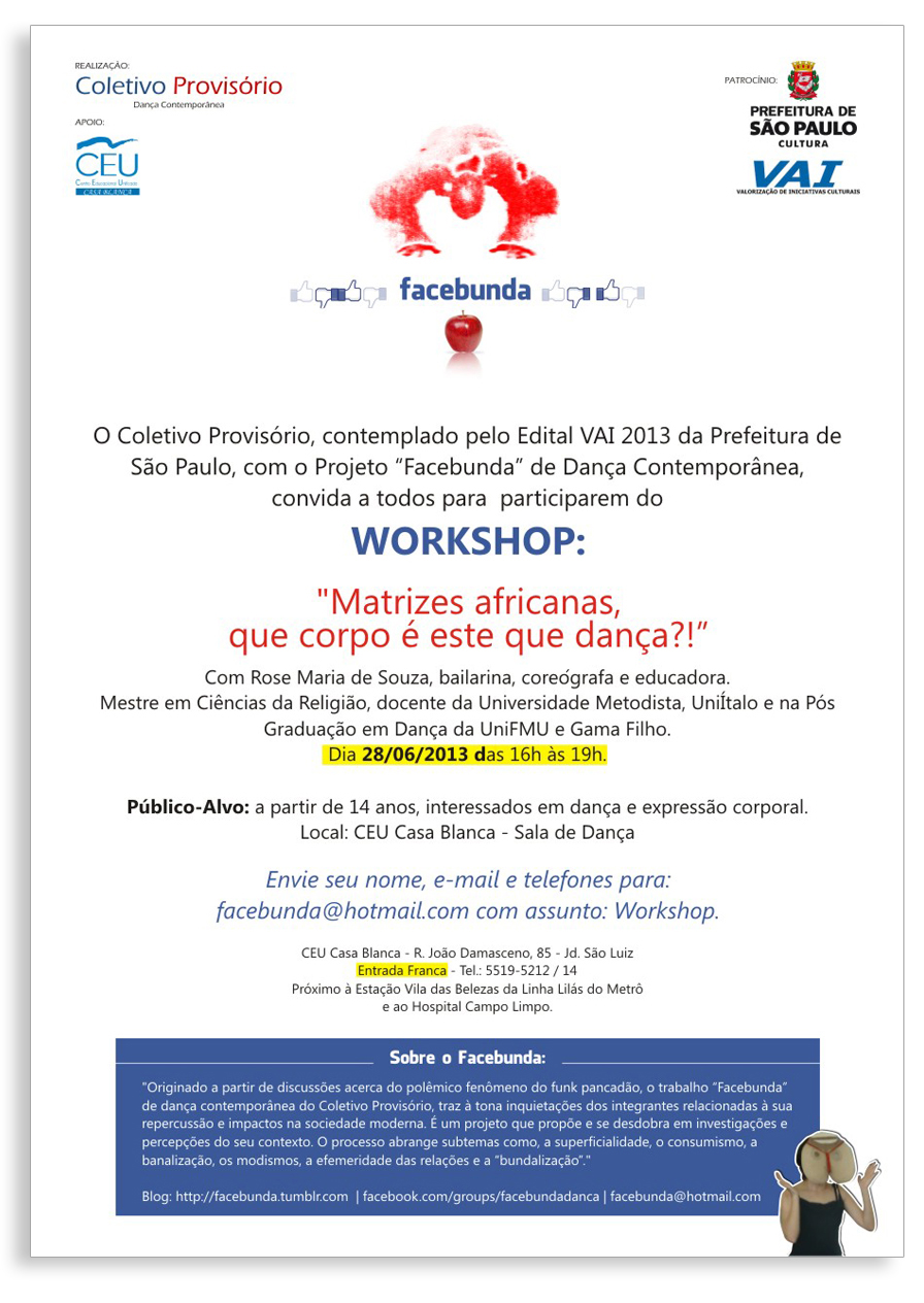 2013-06-28  Workshop FacebundaMatrizes Africanas no CEU Casa Blanca