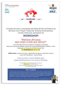 2013-06-28  Workshop FacebundaMatrizes Africanas no CEU Casa Blanca
