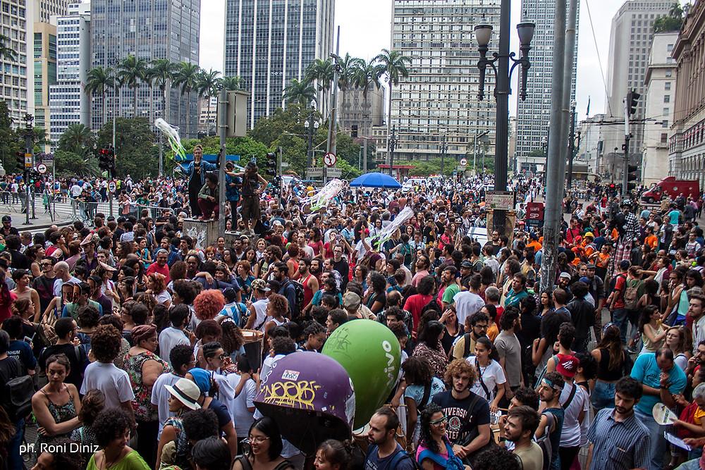 Manifestação dos Artistas Descongela a Cultura Já em São Paulo