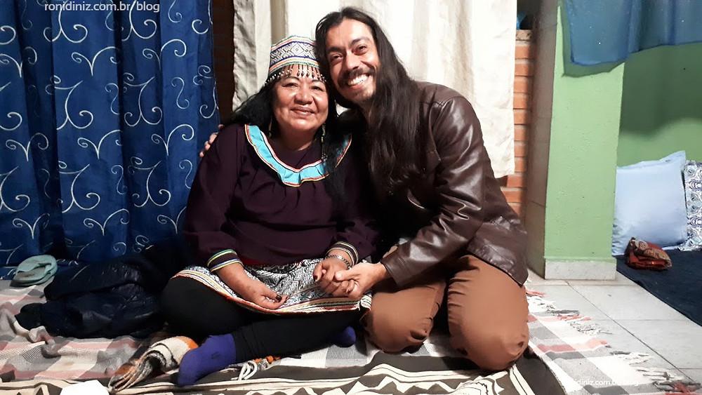 Com a Mestra Shipibo Lourdes Mahua do Peru