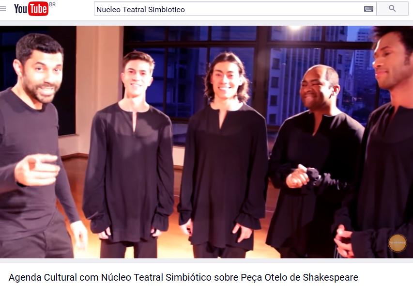 2015-09-26_Agenda_Cultural_com_Núcleo_Teatral_Simbiótico_sobre_Peça_Otelo_de_Shakespeare