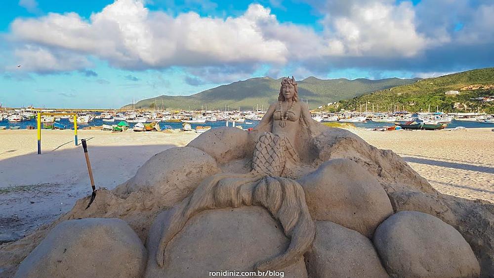 Escultura de Areia na Praia dos Anjos