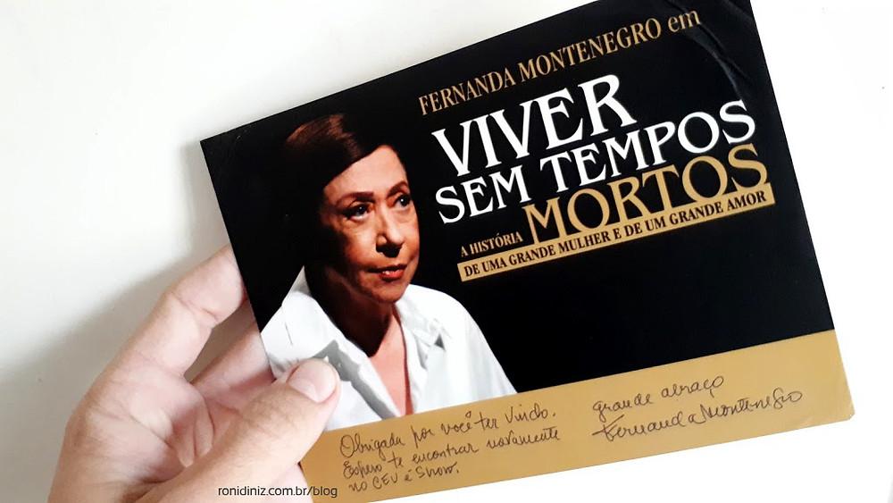 Fernanda Montenegro Foto: Roni Diniz 2010 - Peça Viver sem tempos mortos