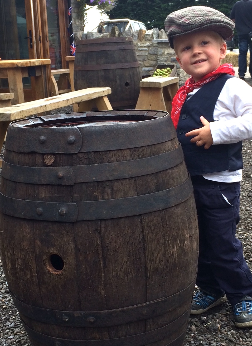 Boy & barrel 1