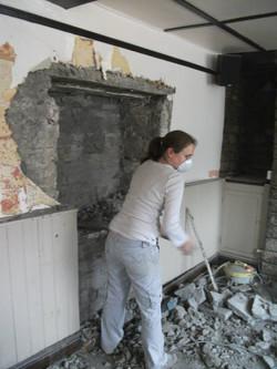 Finding the original kitchen doorway