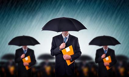Şemsiyeler ile İşadamları
