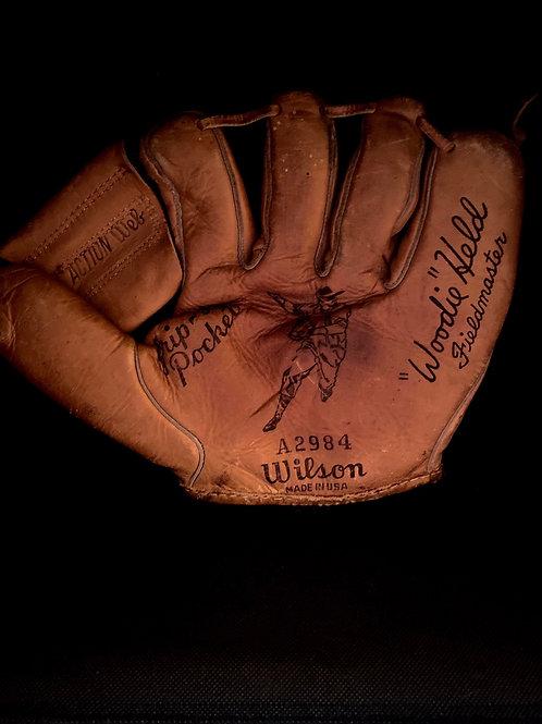 Vintage mylon stitched baseball glove