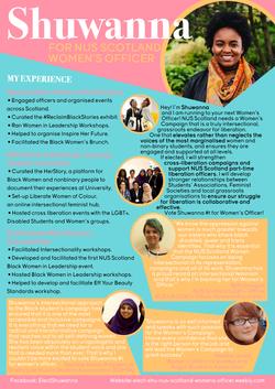 Shuwanna Women's Officer - Manifesto