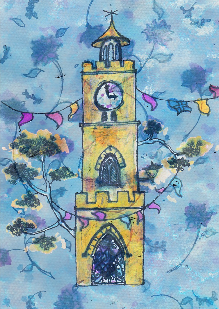 Clocktower Card