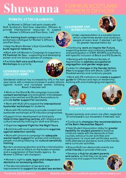 Shuwanna Women's Officer Manifesto