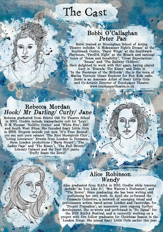 Peter Pan Program - Cast