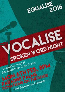 EQUALISE 2017 Spoken Word Poster