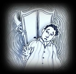 The Haunted Cabinet Illustration