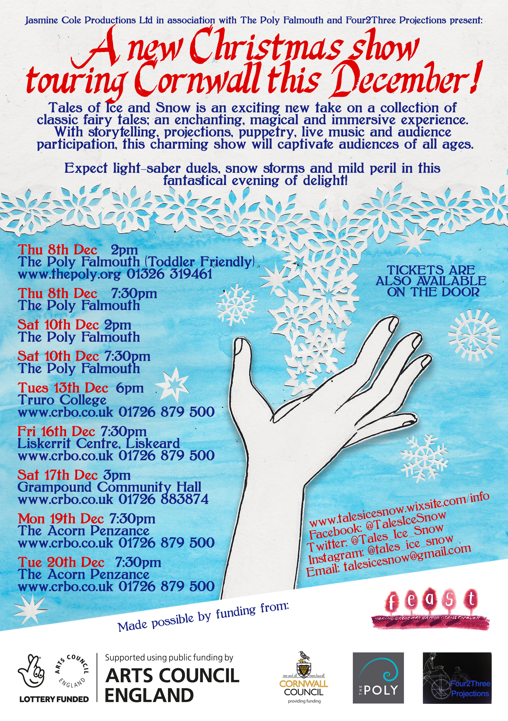 Tales of Ice and Snow - Flyer back